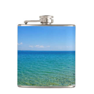 Beautiful Colors Of Lake Huron Hip Flask