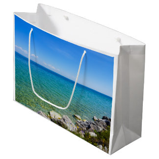 Beautiful Colors Of Lake Huron Large Gift Bag