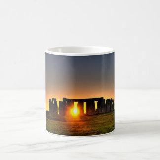 Beautiful colour image of Stonehenge. Basic White Mug