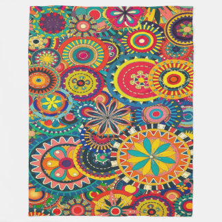 Beautiful coloured pattern blankets