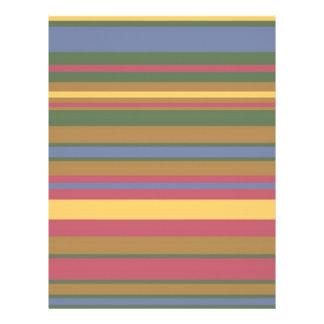 beautiful coloured stripes letterhead design