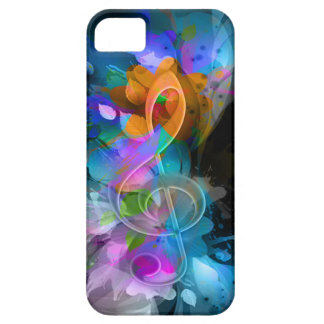 Beautiful colourful cool splatter flowers leaves iPhone 5 cover