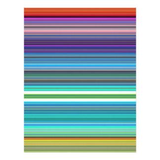 beautiful colourful stripes personalized letterhead