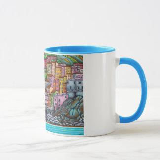 Beautiful, colourful, stylized painting of Manarol Mug