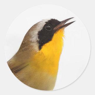Beautiful Common Yellowthroat Warbler Classic Round Sticker