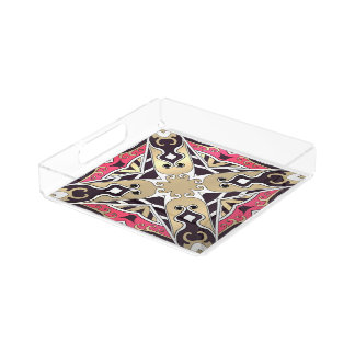 Beautiful complicated  moroccan ornament. serving tray
