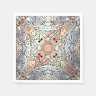 Beautiful complicated pastel moroccan ornament. disposable napkin