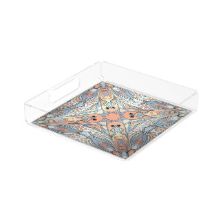 Beautiful complicated pastel moroccan ornament. perfume tray