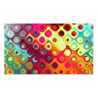 Beautiful cool abstract squares circles glass glow business card