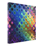 Beautiful cool abstract squares circles glass glow stretched canvas print