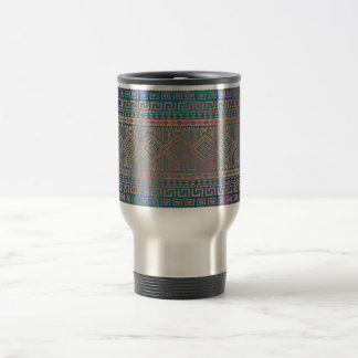 Beautiful cool colourful Aztec geometric pattern 15 Oz Stainless Steel Travel Mug