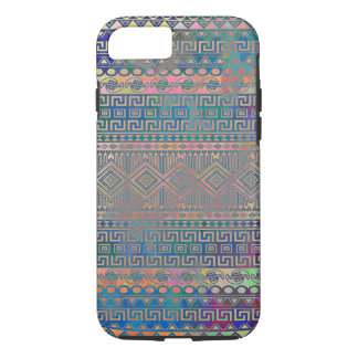 Beautiful cool colourful Aztec geometric pattern iPhone 8/7 Case