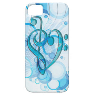 Beautiful cool music notes together as a heart iPhone 5 cover