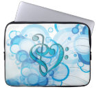 Beautiful cool music notes together as a heart laptop sleeve