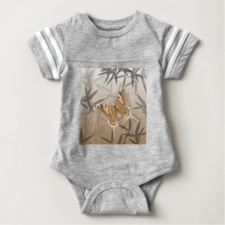 Beautiful Copper Butterfly Design Baby Bodysuit