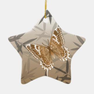 Beautiful Copper Butterfly Design Ceramic Ornament