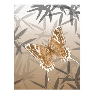 Beautiful Copper Butterfly Design Letterhead