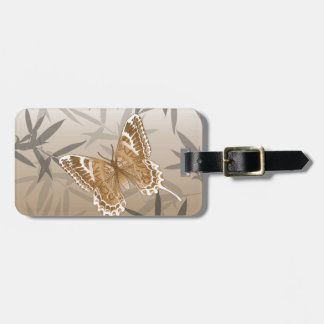 Beautiful Copper Butterfly Design Luggage Tag