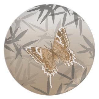 Beautiful Copper Butterfly Design Plate