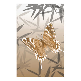 Beautiful Copper Butterfly Design Stationery