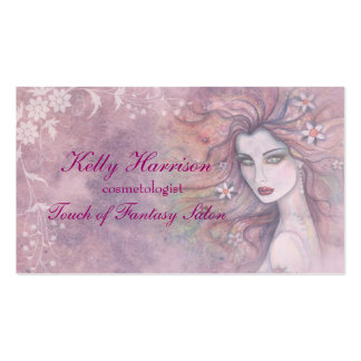 Beautiful Cosmetologist or Makeup Artist Card Business Cards