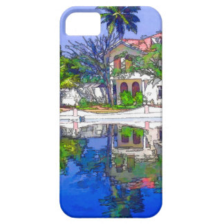 Beautiful cottages and lagoon iPhone 5 covers