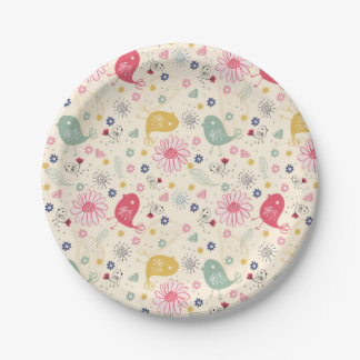 Beautiful Country Birds Paper Plate
