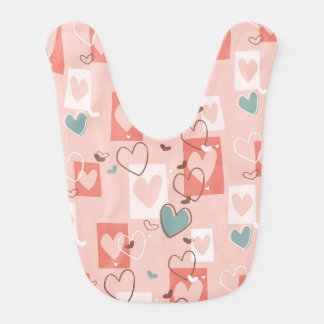Beautiful Country Hearts Bib