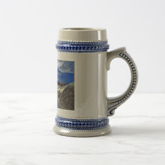 Beautiful country on a stein