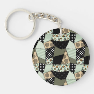 Beautiful Country Patchwork Quilt Acrylic Keychains