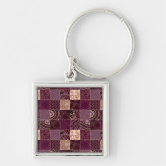 Beautiful Country Patchwork Quilt Key Chain