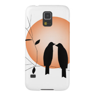 Beautiful couple love birds cases for galaxy s5