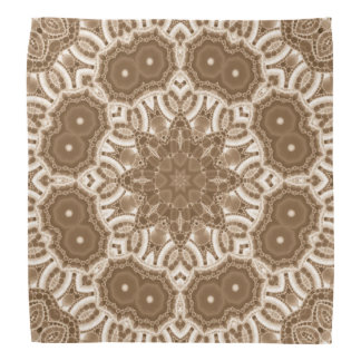 Beautiful Cream Abstract Pattern Bandana