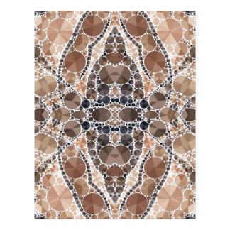 Beautiful Cream Bling Pattern Custom Letterhead