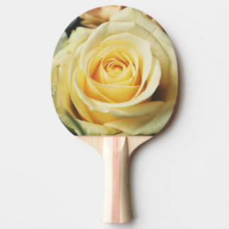 Beautiful cream Rose Ping Pong Paddle
