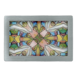 Beautiful Cross Shaped Stained Glass Inspirational Belt Buckles