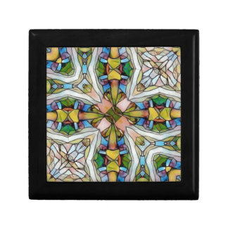 Beautiful Cross Shaped Stained Glass Inspirational Gift Box