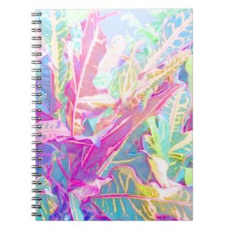 Beautiful croton leaves (2) notebooks