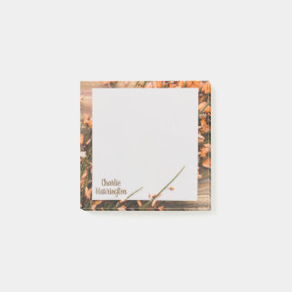 Beautiful Custom Name Rustic sticky notes