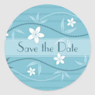 Beautiful Custom Save the Date Floral Sticker
