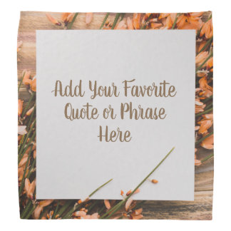 Beautiful Custom Text Rustic bandana