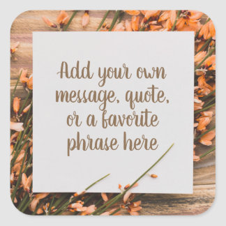 Beautiful Custom Text Rustic stickers