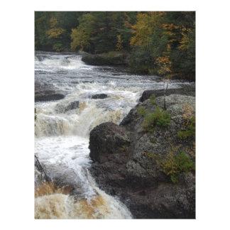 Beautiful Customizable Waterfall Photo Custom Letterhead