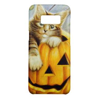 Beautiful cute kitten on pumpkin, halloween art Case-Mate samsung galaxy s8 case