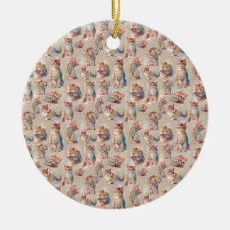 Beautiful cute Kittens Ceramic Ornament