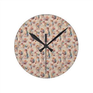 Beautiful cute Kittens Round Clock