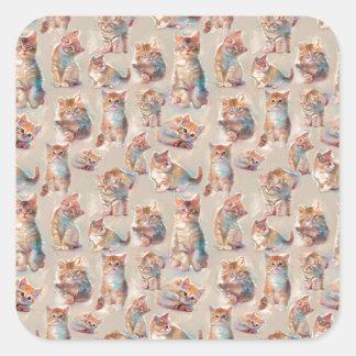 Beautiful cute Kittens Square Sticker