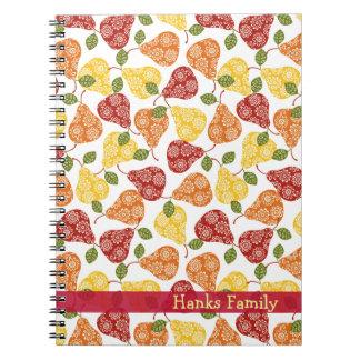 Beautiful Cute pears in autumn colors Spiral Notebooks