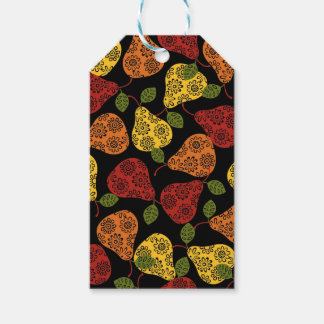 Beautiful Cute pears, yellow,  orange, maroon Gift Tags
