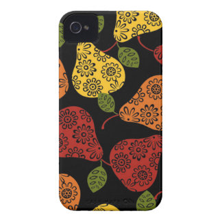 Beautiful Cute pears, yellow,  orange, maroon iPhone 4 Case-Mate Cases